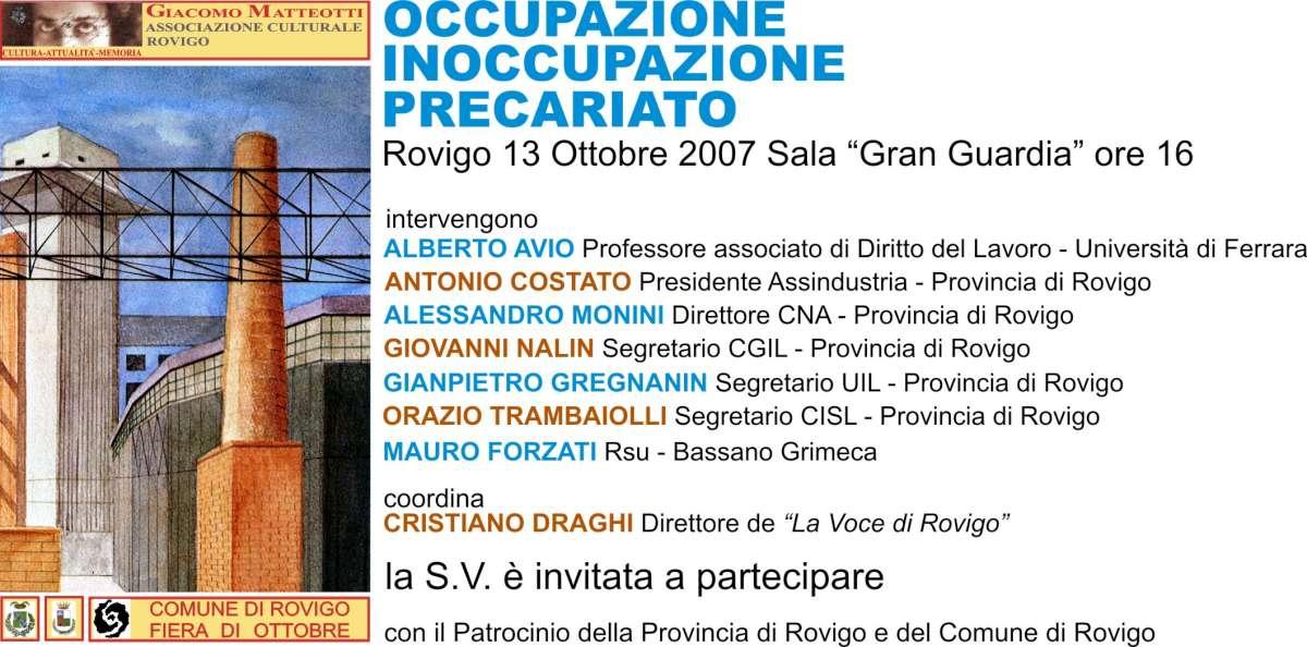 occupazione 2007